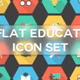 Flat Education Icons