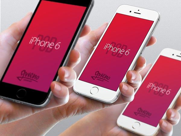 iPhone 6 mockups – Hand view
