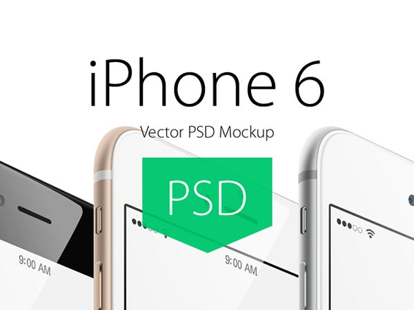 iPhone 6 mockups – Angled view