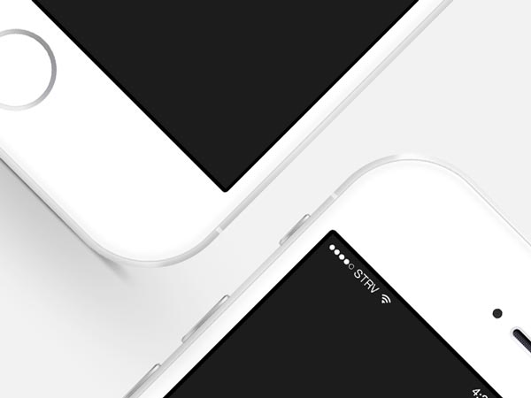 Silver iPhone 6 mockup