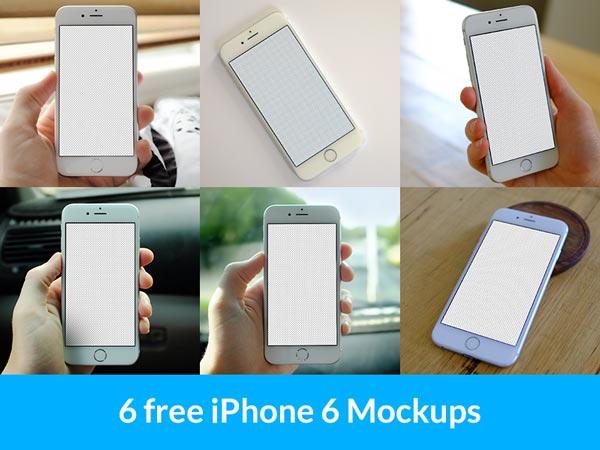 6 free iPhone6 mockups