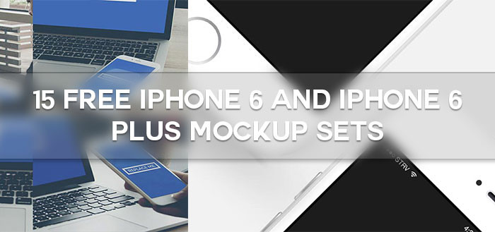 15 Free iPhone 6 and iPhone 6 Plus Mockup Sets